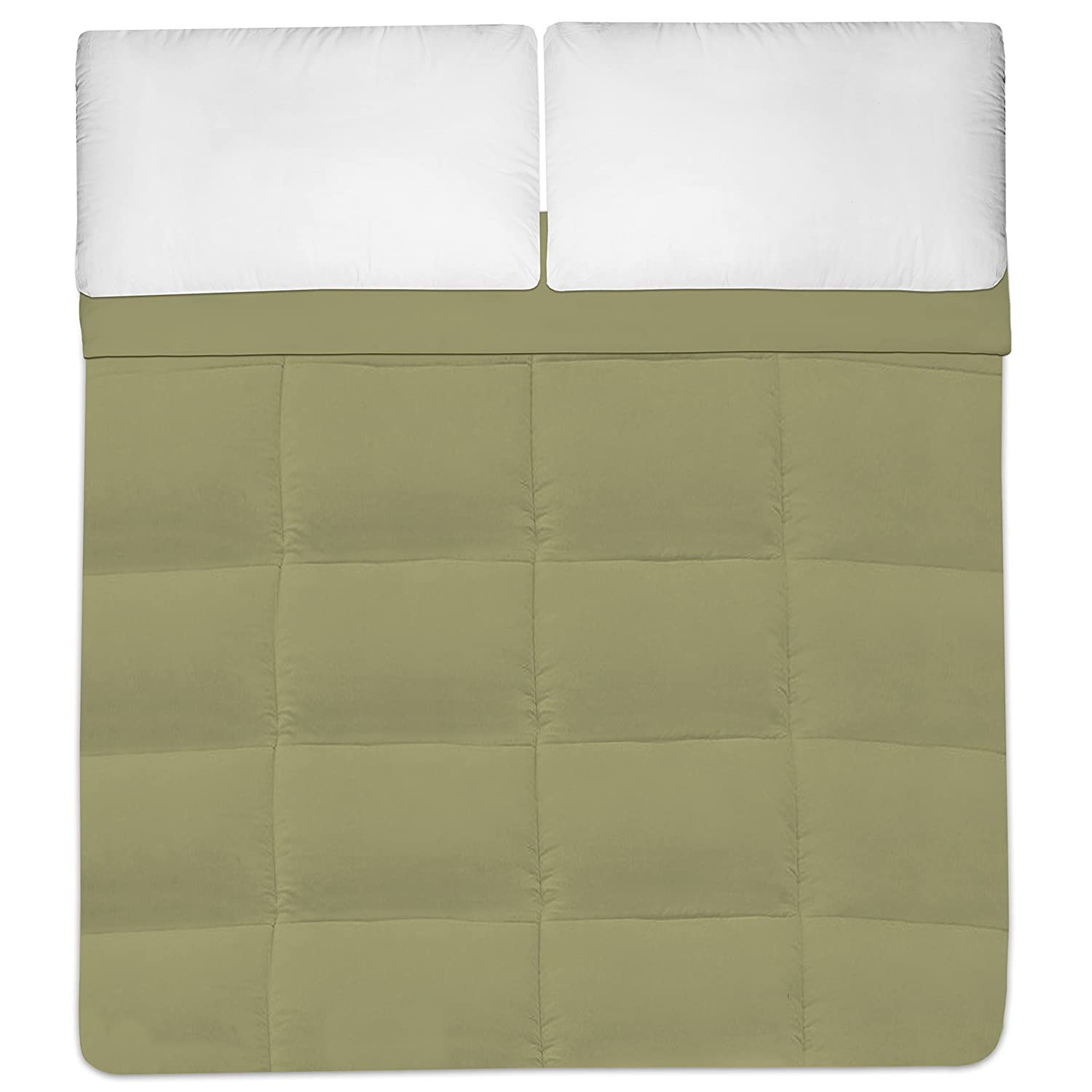 Sweet Home Collection Down Alternative Polyester Comforter Box Stitch Microfiber Bedding Twin Beige