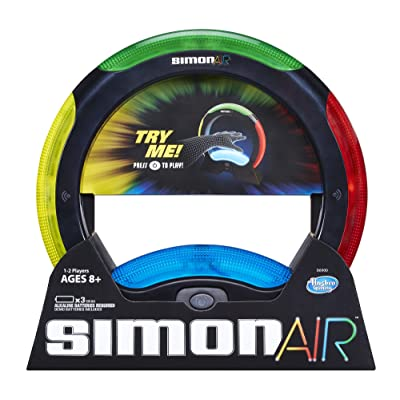 Hasbro Simon Air Game – Touchless Technology – Master the Moves to Win – Solo and 2 Player Mode – A Modern Twist on the Classic Game: Toys & Games