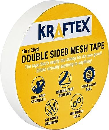 Kraftex Bande Maillée Adhésive Double Face Pour Surfaces Multiples Fixation Ultra Forte Sur Nimporte Quel Sol Pierre Mélaminé Carrelage
