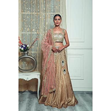 80064049d6 Pushp Paridhan Wedding Party Wear Traditional Ethnic Wear Hand Work With  Resham Work Veggie Gold Lehenga