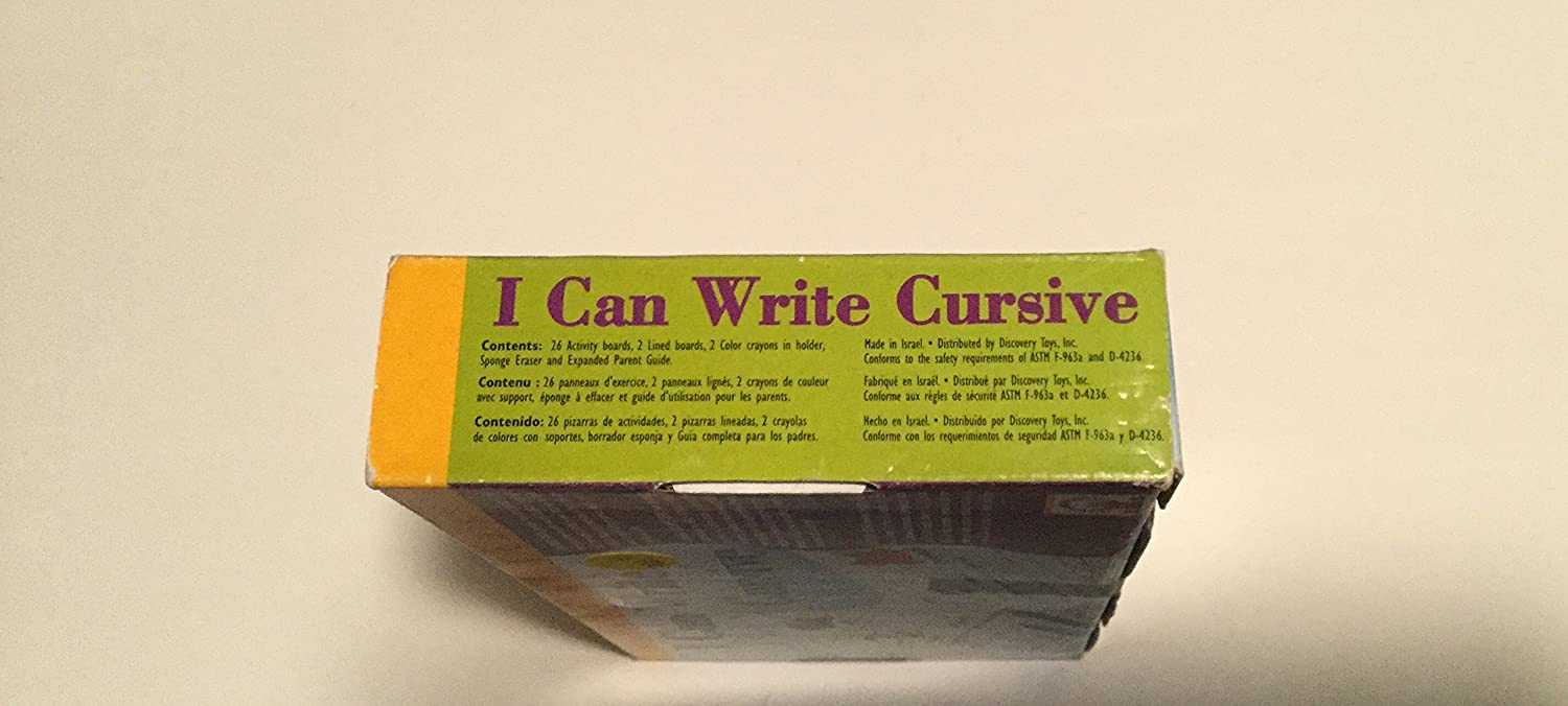 Amazon.com: I Can Write Cursive by Discovery Toys: Toys & Games