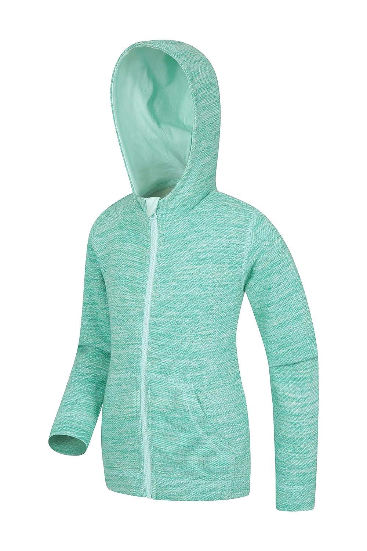 f/ür Reisen warme kuschlige Sommerjacke innen aufgerautes Kinder-Sweatshirt mit K/änguru-Tasche Mountain Warehouse Phoenix Block Panel Kinder-Kapuzen-Top