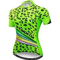 Women's Cycling Jersey Tops Summer Short Sleeve Full-Zip Clothing Bike Shirt