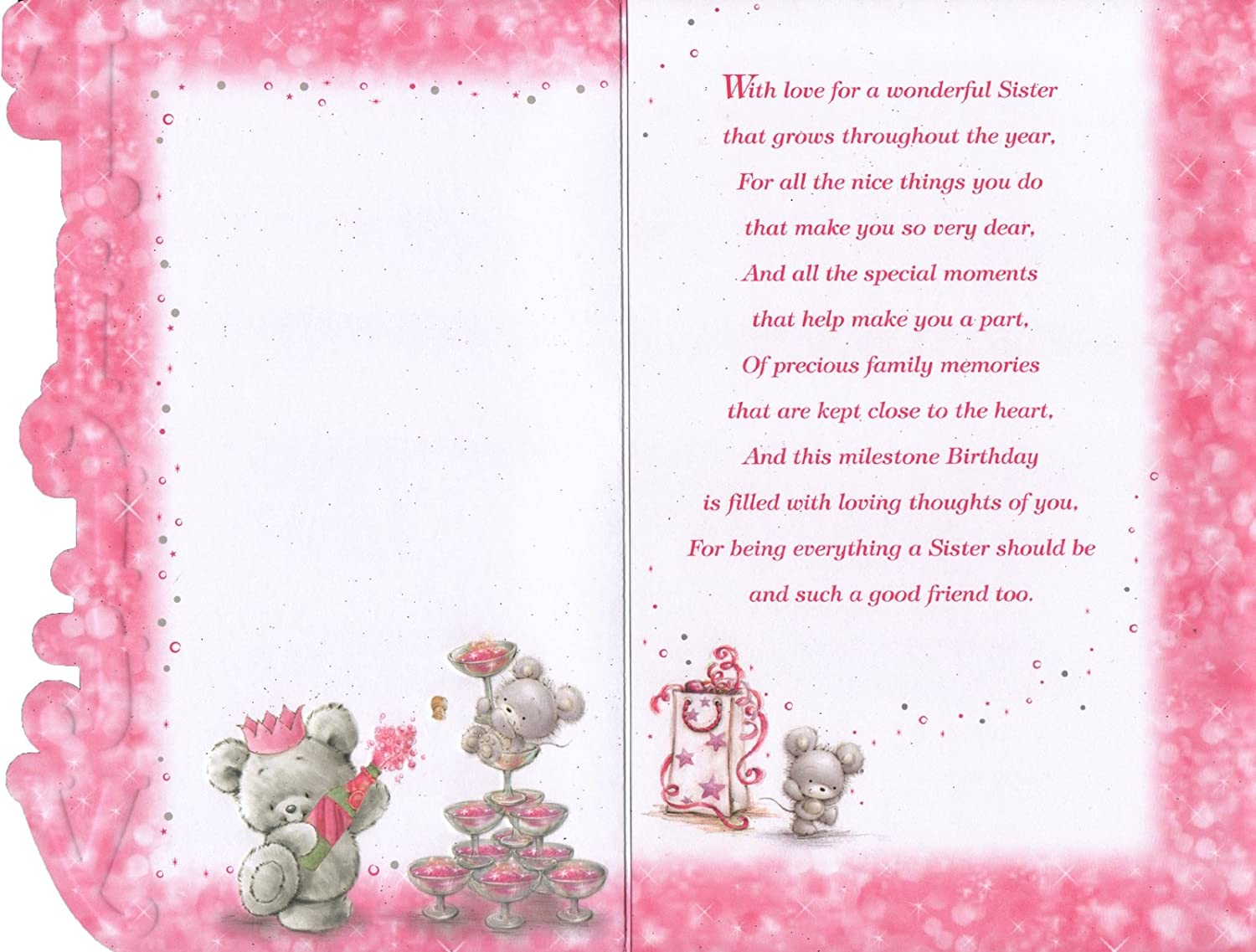 Sisters 50th Birthday Card To A Special Sister On Your 50th