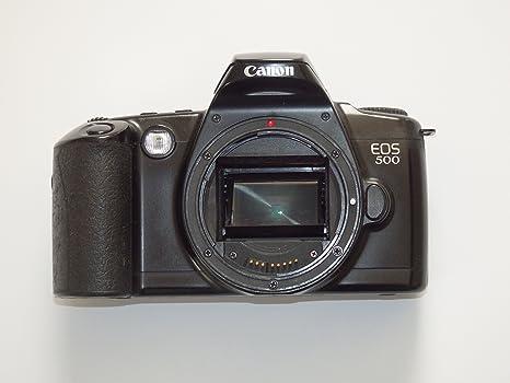 Canon EOS 500 Caja Body SLR de cámara réflex cámara Analog: Amazon ...