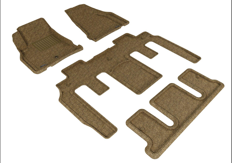 Black Classic Carpet L1CH06102209 3D MAXpider Complete Set Custom Fit All-Weather Floor Mat for Select Chevrolet Traverse Models