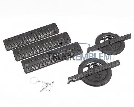 5 nuevo Custom negro F350 & 7.3L POWERSTROKE internacional Fender y portón trasero Set