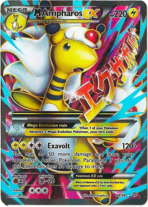 Pokemon M Ampharos Ex Full Art Xy Ancient Origins 88 98 Single Cards Amazon Canada