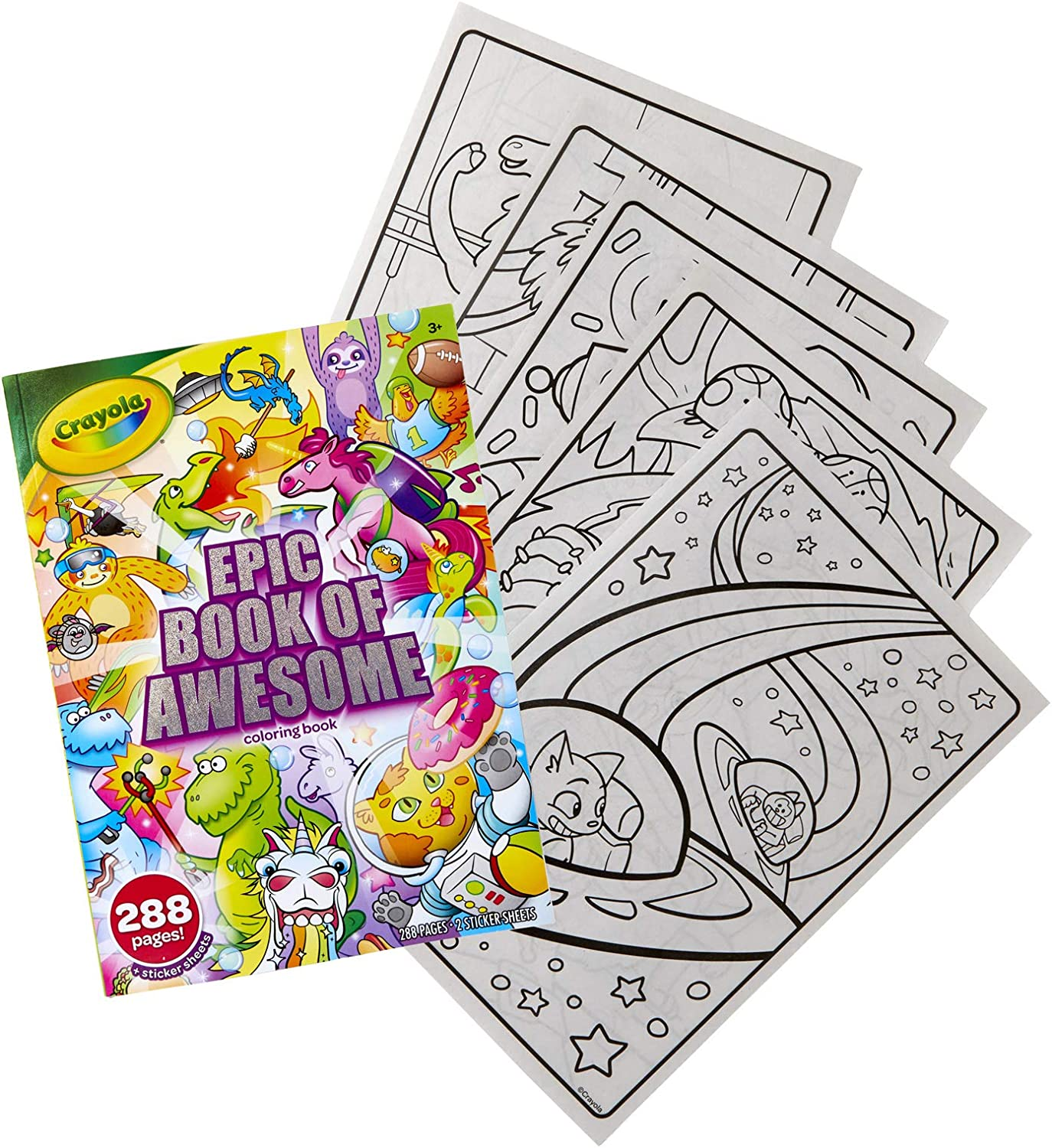 - Amazon.com: Crayola Epic Book Of Awesome, All-in-One Coloring Book