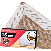 Rug Grippers X-PROTECTOR - Best 16 pcs Anti Curling Rug Gripper. Keeps Your Rug in Place & Makes Corners Flat. Premium Carpet Gripper with Renewable Carpet Tape - Ideal Non Slip Rug Pad for Your Rug