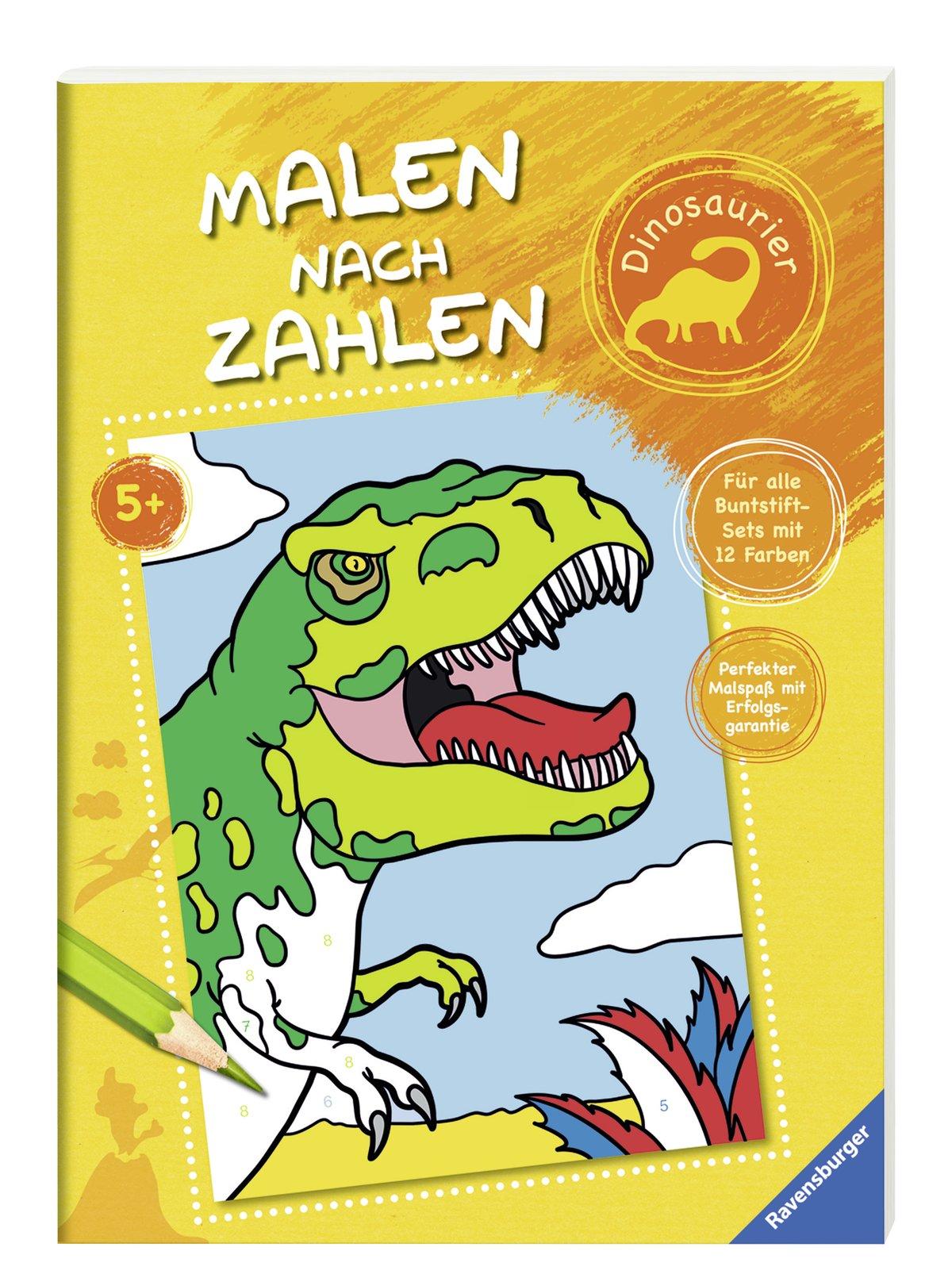 Malen nach Zahlen: Dinosaurier: Amazon.de: Stefan Richter: Bücher