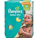 Pampers Baby Dry Windeln, Gr.5+ (Junior+) 13-25 kg, Monatsbox, 132 Stück
