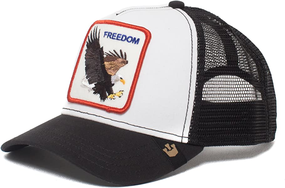 Animal Farm Freedom Eagle Snapback Trucker Hat White
