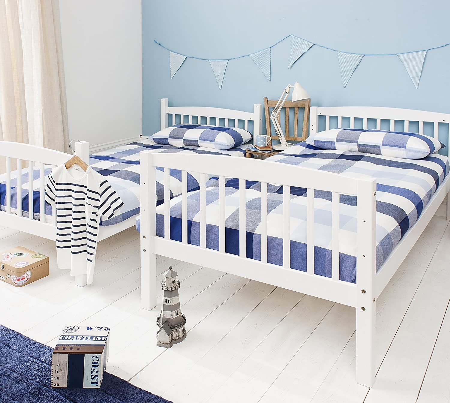 Bunk Bed Wooden Single Can Be Split Into 2 Singles