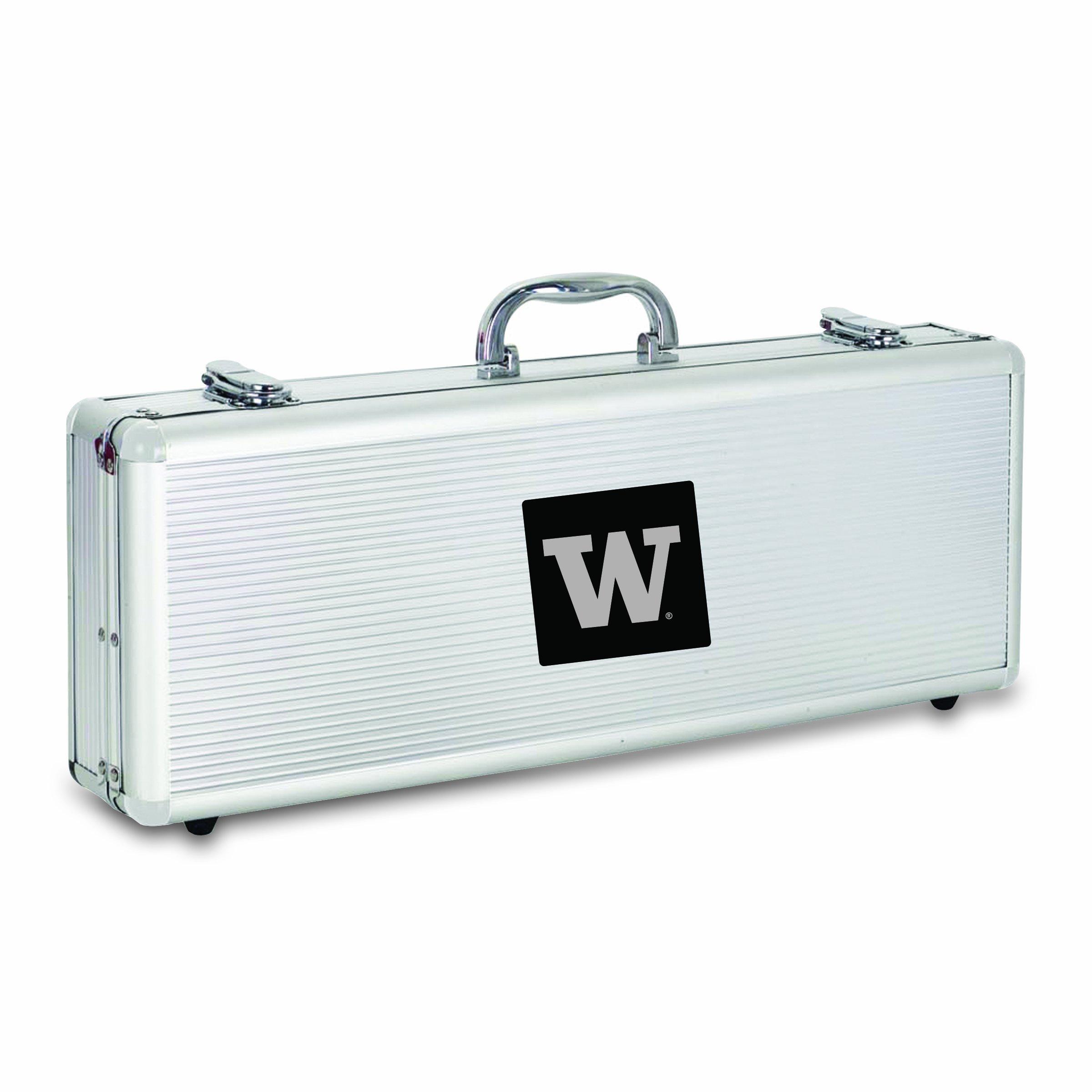NCAA Washington Huskies Fiero 5-Piece Tool Set de barbacoa con el caso