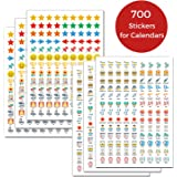Daily Planner Stickers for Calendars: (Set of 700), 46 Unique Designs, Calendar Stickers for Bullet Journal, Daily Planner, Agenda or Notebook, Planner Stickers and Office Accessories by Cranbury