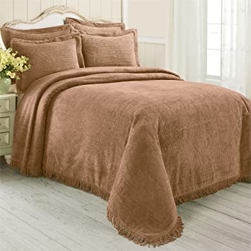 Brylanehome Cotton Chenille Bedspread  Chocolate Twin. Amazon com  Brylanehome Cotton Chenille Bedspread  Chocolate Twin