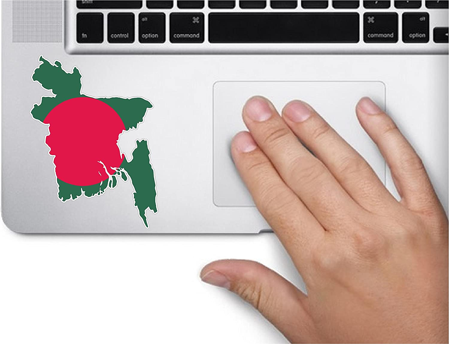 Map with Flag Inside Bangladesh 3.5x3.4 inches Sticker Decal die Cut Vinyl - Made and Shipped in USA