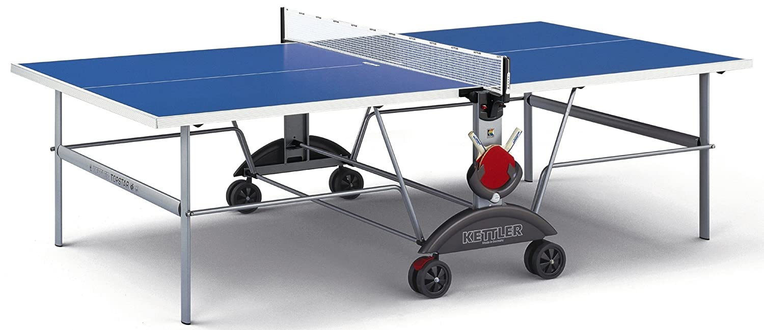 Amazon.com : Kettler Top Star XL Indoor/Outdoor Table Tennis Table, Blue Top  : Outdoor Ping Pong Table : Sports U0026 Outdoors