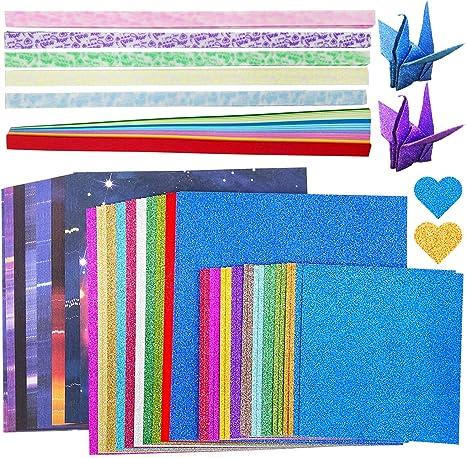 Papier Faltstreifen f/ür DIY Handwerk Geschenke Dekoration 330 Blatt, 5 Typen Super Produkt f/ür begeisterte Origami-Bastler ZJW Doppelseitiges Origami Papier