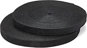 100 Velcro Straps ECO 200 x 25 MM Black Cable Velcro Velcro Velcro Cable Ties