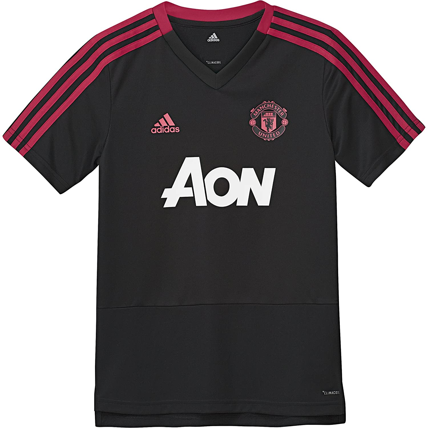 adidas 2018-2019 Man Utd Training Shirt (Black) - Kids