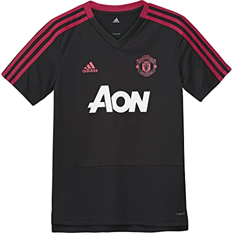df82afe17 adidas Manchester United FC Official 2018/19 Training Jersey - Youth -  Black/Red
