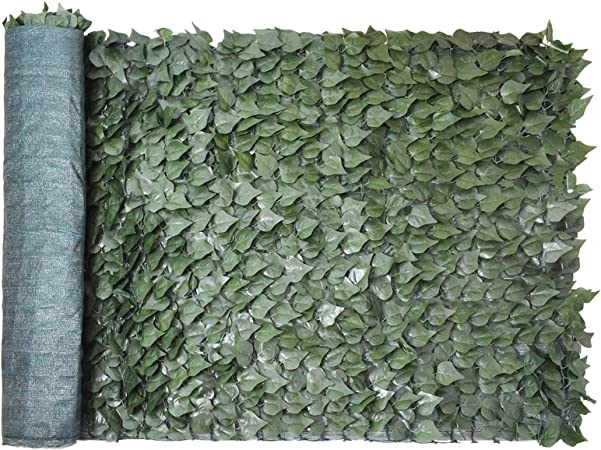 Goplus 40 X95 Faux Ivy Leaf Decorative Privacy Fence Screen Artificial Hedge Fencing