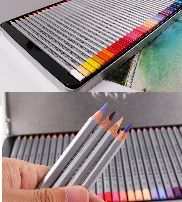 Macro belleza interior 72 colores juego de lápices incluye caja de Metal