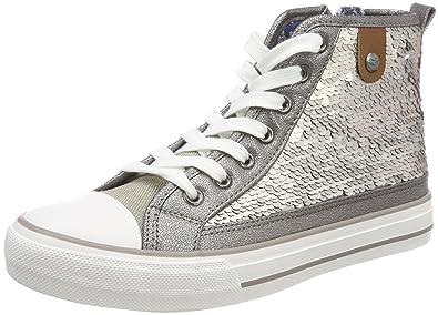 Fritzi aus Preußen Damen Hanna Toe Cap Sneaker Sequin Hohe, Silber (Silver), 41 EU