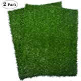 """PICK FOR LIFE Artificial Dog Grass Pee Pad 20""""x 25"""", Indoor Potty Training Turf for Puppy, Easy to Clean with Strong Permeability, 2-Pack"""