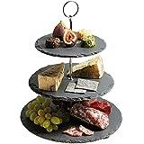 KitchenCraft Artesà Slate 3-Tier Cake Stand/Serving Set