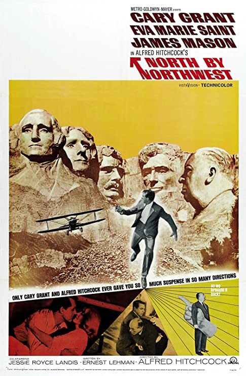 """Amazon.com: North by Northwest (1959) Movie Poster 24""""x36"""": Posters & Prints"""
