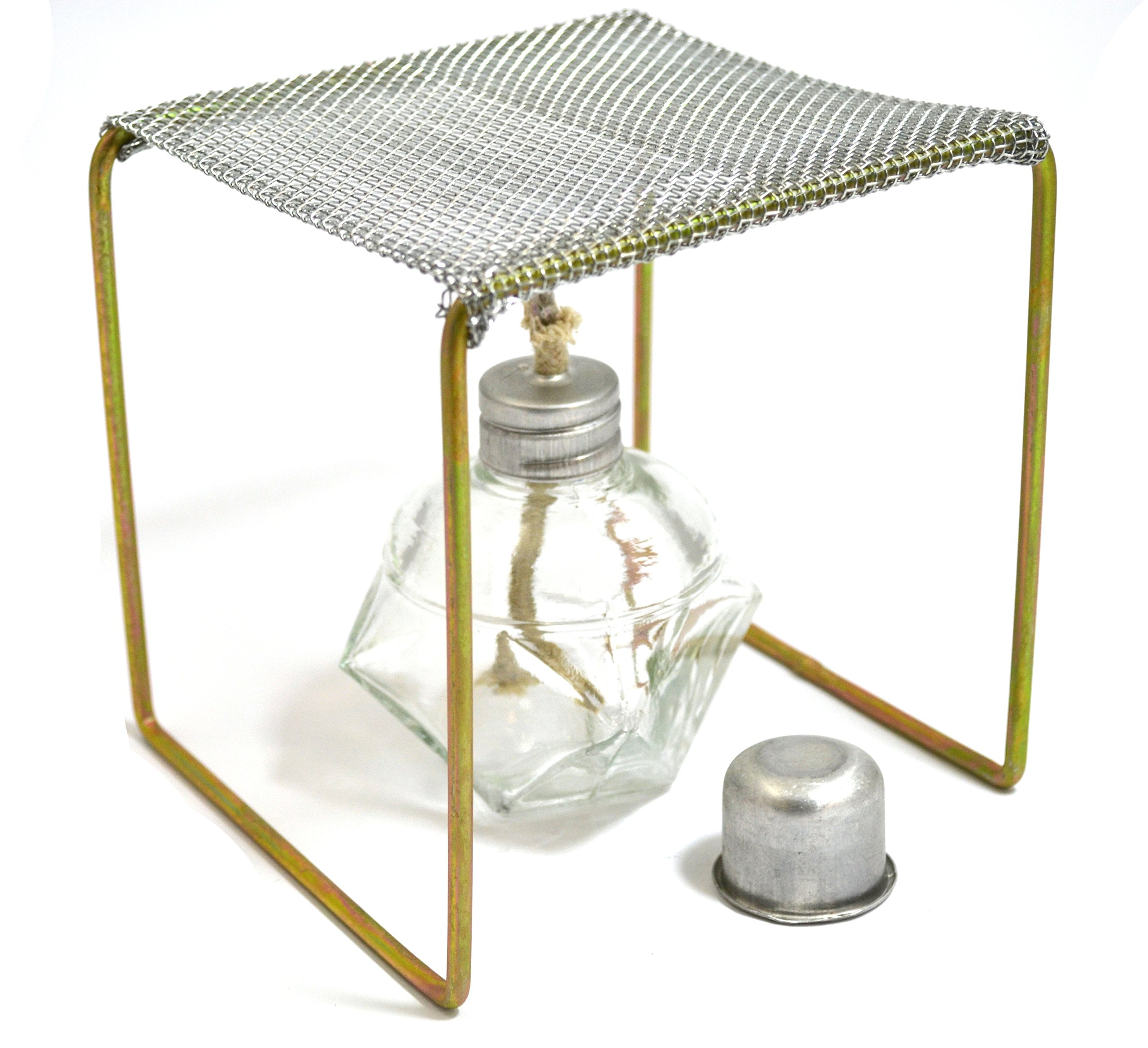 Eisco Labs Alcohol Burner with Burner Stand (Approx. 5''x5''x5'') Starter Set
