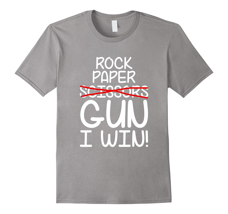 957ece34 Rock Paper Scissors Gun I Win T-Shirt, Funny T-Shirt Gift-CL – Colamaga