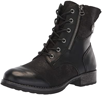 49baa2d6f Dirty Laundry by Chinese Laundry Women s Tilley Combat Boot Black Canvas 6  ...