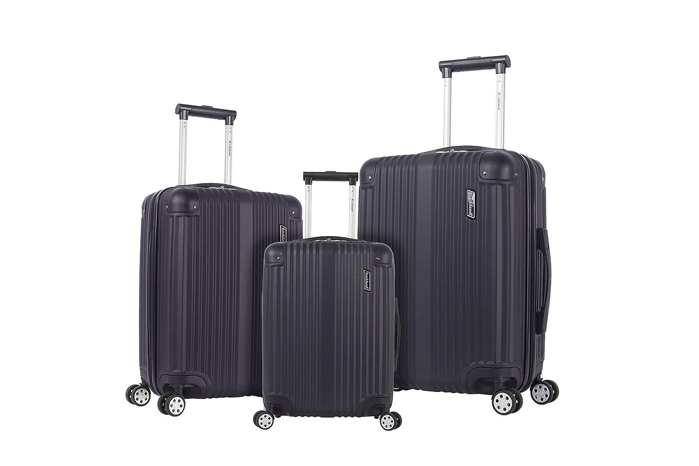 520c06a79a57 Rockland Hardside Spinner 3-Piece Luggage Set, Black