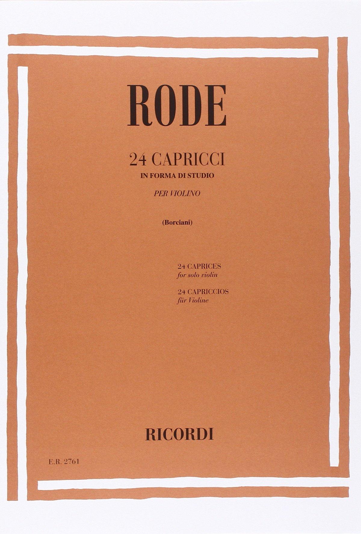 24 CAPRICCI IN FORMA DI STUDIO (Francese) Copertina flessibile – 1 dic 1976 RODE J.P. Ricordi 0041827619 Musique