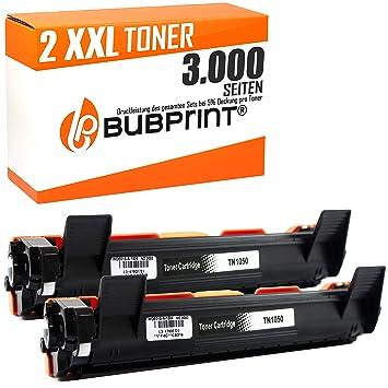 Bubprint 2 Tóner XXL Compatible con Brother TN-1050 para Impresora ...