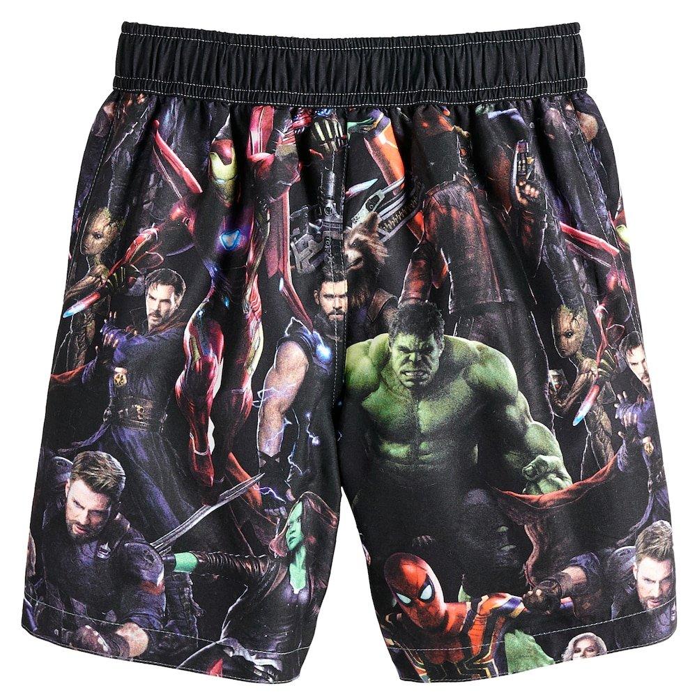 abdeb9e2172c1 Avengers Superhero Boys Swim Trunks Swimwear (Toddler/Little Kid/Big Kid)  (4): Amazon.ca: Clothing & Accessories