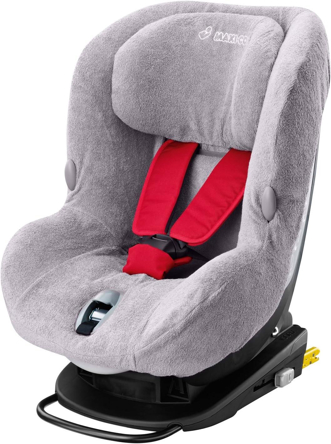 Cobertor de asiento MiloFix color rojo para Maxi-Cosi gris