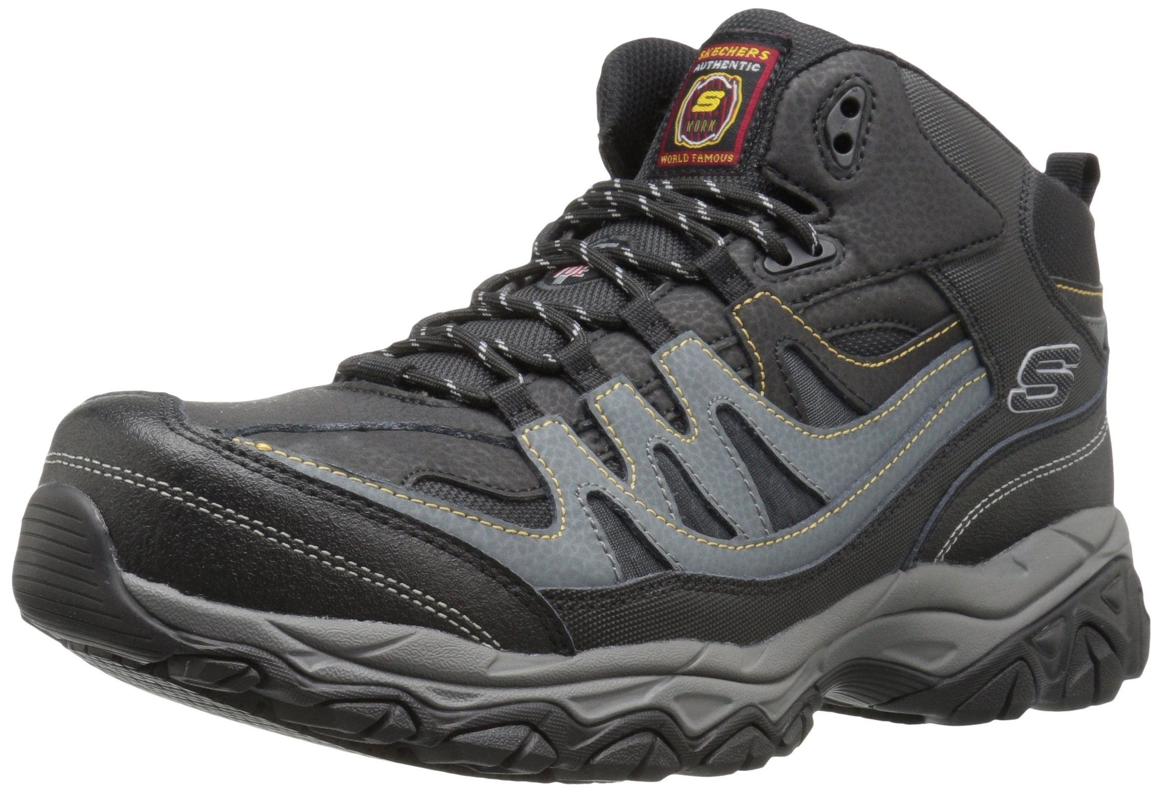 Skechers for Work Men's Holdredge Rebem Work Boot,Black/Charcoal,7.5 M US