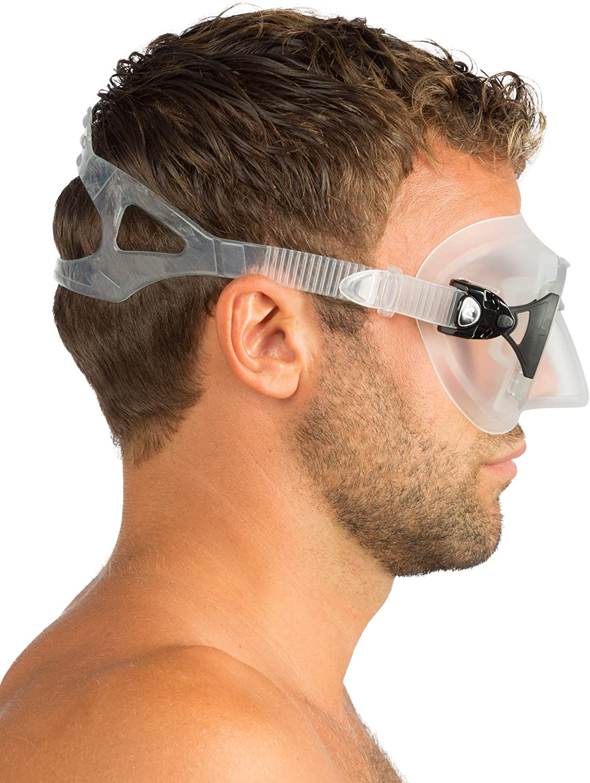 Masque de Plong/ée Professionnel pour Adultes avec Innovant Syst/ème Anti-bu/ée Cressi Calibro
