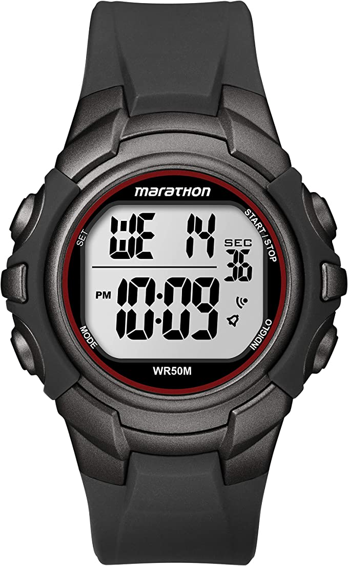 Timex T5K6424E - Reloj Digital de Cuarzo para Hombres, Correa de Resina, Color Negro