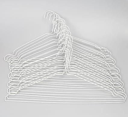 Perchas de alambre de metal con muescas para faldas ropa ...