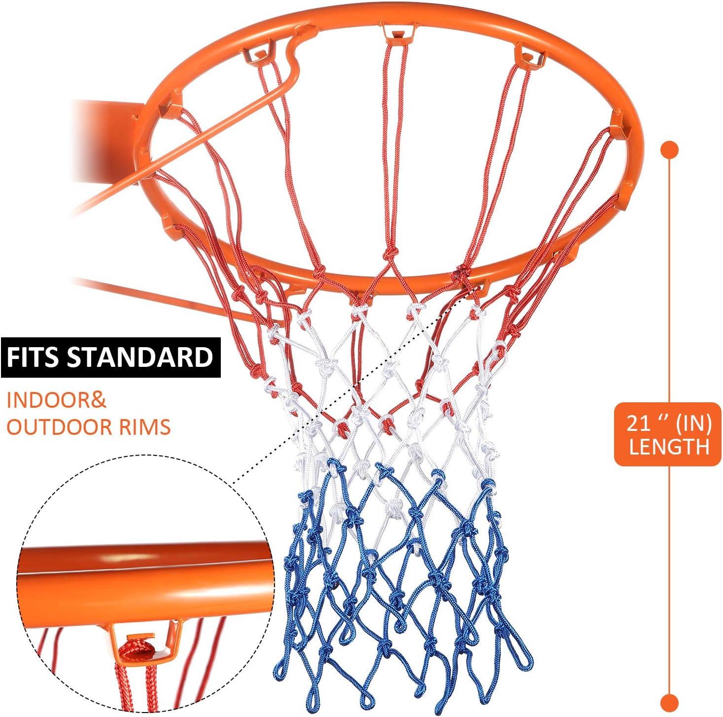12 Boucles Syhood 2 Paquets Filet de Basket-Ball Remplacement de Filet de Cerceaux pour Presque Tous Les Temps Convenant au Cerceau de Basket-Ball Standard Int/érieur ou Ext/érieur