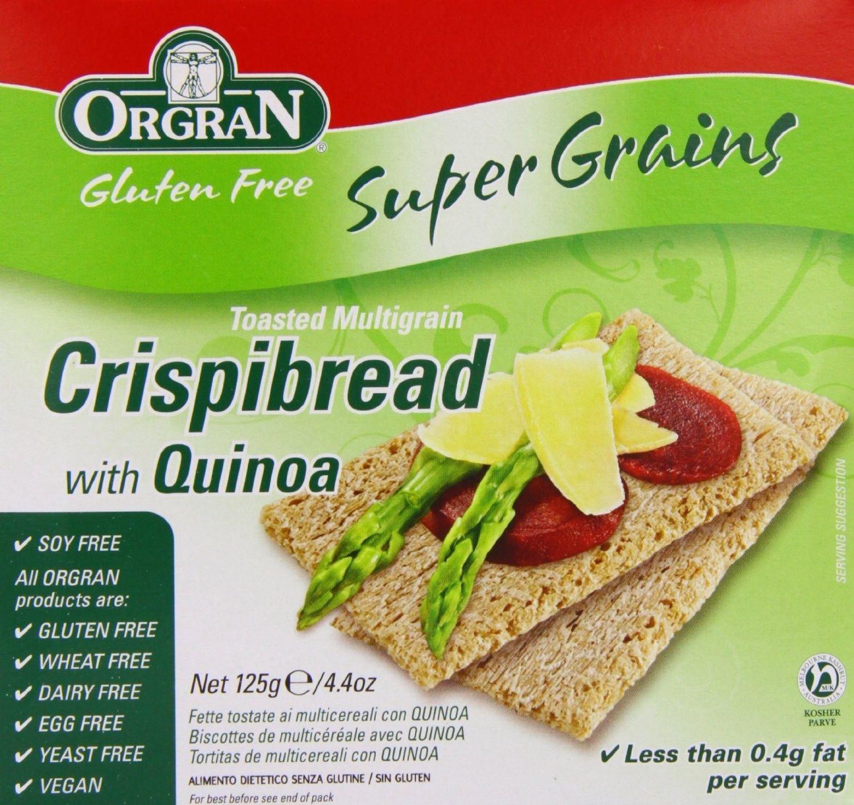 Orgran - Gluten Free Multigrain Crispbread 125g (Pack of 4)