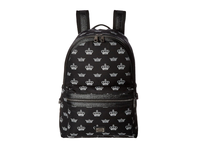 [ドルチェ&ガッバーナ] Dolce & Gabbana メンズ Vulcano Crown Print Backpack バックパック Black/White [並行輸入品] B01N1HX8TF
