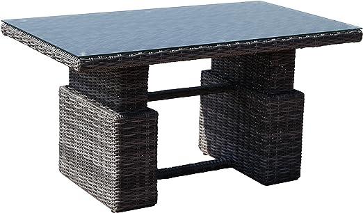 Mesa de jardín o terraza Mesa con resorte con altura regulable ...