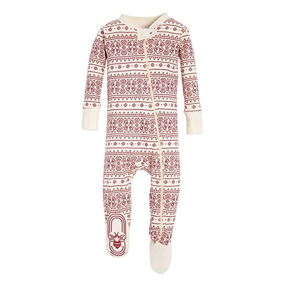 b264a8ff0 Burt's Bees Baby Family Jammies, Fair Isle Ivory, Holiday Matching Pajamas,  100% Organic Cotton, Sleeper: 12 Months: Amazon.in: Clothing & Accessories